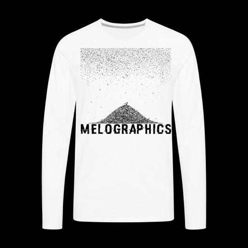 Falling Letters - Men's Premium Long Sleeve T-Shirt