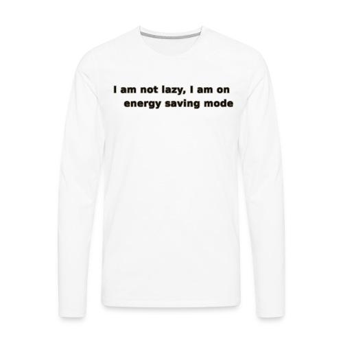 Funny Lazy T-shirt/Longsleeve - Men's Premium Long Sleeve T-Shirt