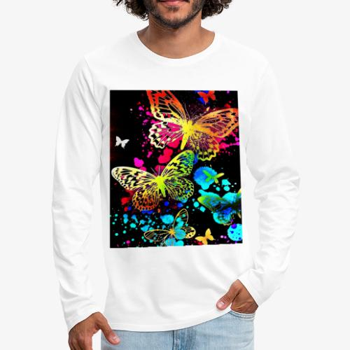 Butterflies - Men's Premium Long Sleeve T-Shirt