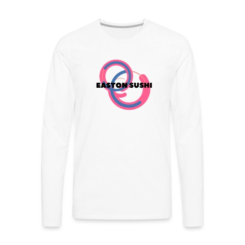 Easton Sushi Blue On Pink - Men's Premium Long Sleeve T-Shirt