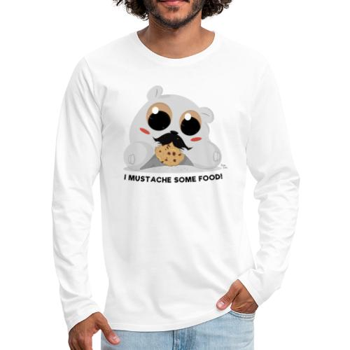 I Mustache Some Food - Men's Premium Long Sleeve T-Shirt