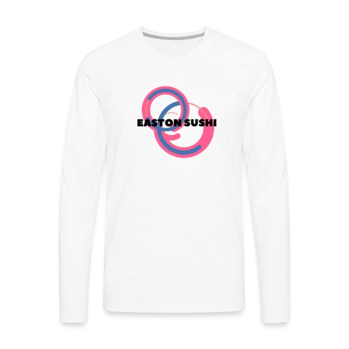 Easton Sushi Blue On Pink - Men's Premium Long Sleeve T-Shirt