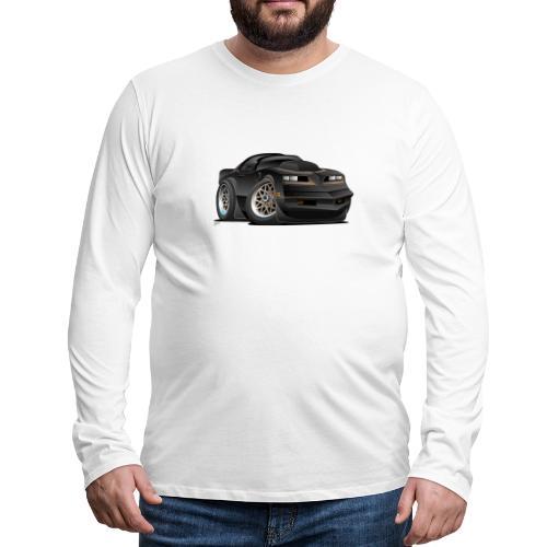 Seventies Classic Muscle Car Cartoon - Men's Premium Long Sleeve T-Shirt