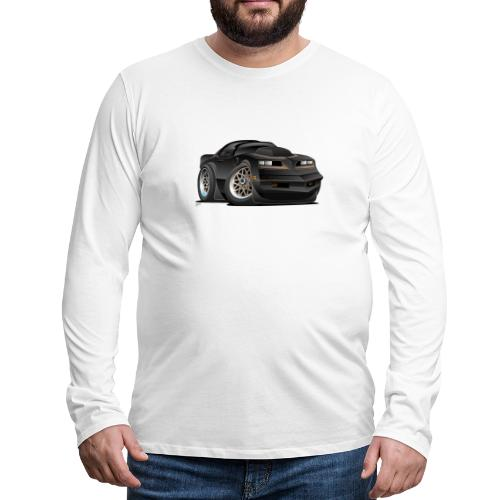 Seventies Classic Muscle Car Cartoon - Men's Premium Long Sleeve T-Shirt