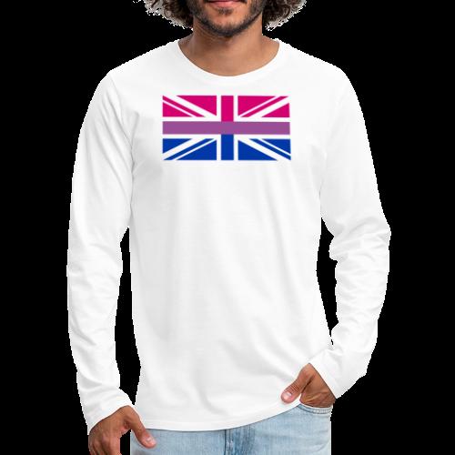 Gay Pride LGBT Bisexual Bi GB UK Union Jack Flag - Men's Premium Long Sleeve T-Shirt