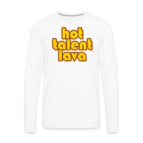 Hot Talent Lava - Yellow Letters - Men's Premium Long Sleeve T-Shirt