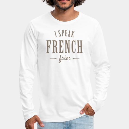 french fries - Men's Premium Long Sleeve T-Shirt