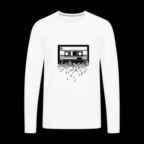 Music Notes Cassette Tape - Men's Premium Long Sleeve T-Shirt
