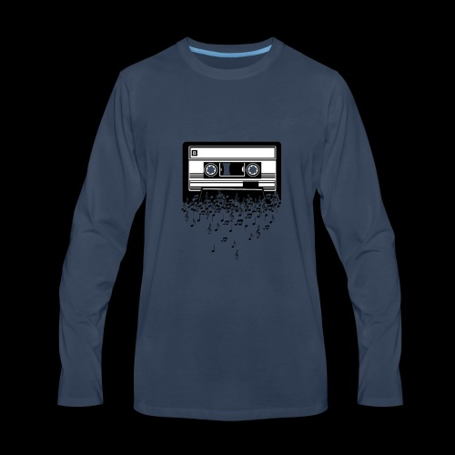 Music Notes Cassette Tape - Men's Premium Long Sleeve T-Shirt