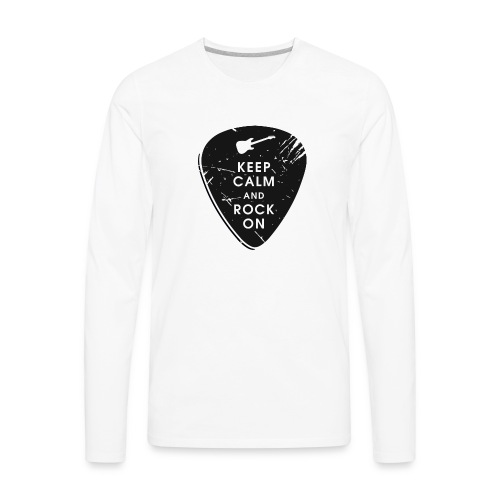 Keep calm and rock on - Men's Premium Long Sleeve T-Shirt