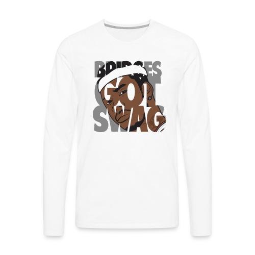 Men's Hoodie - #BridgesGotSwag - Men's Premium Long Sleeve T-Shirt