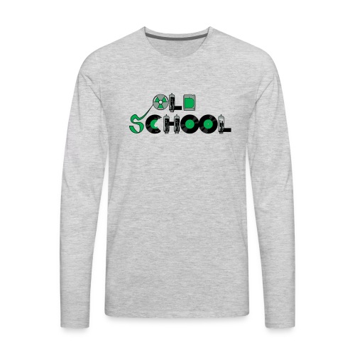 Old School Music - Men's Premium Long Sleeve T-Shirt