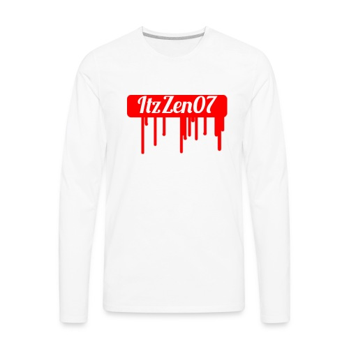 LIMITED TIME ItzZen07 Dripping Blood Halloween - Men's Premium Long Sleeve T-Shirt