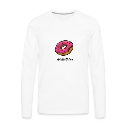 CF doughnut black writing - Men's Premium Long Sleeve T-Shirt