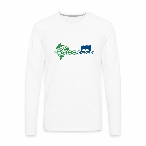 BassGeek Logo - Men's Premium Long Sleeve T-Shirt