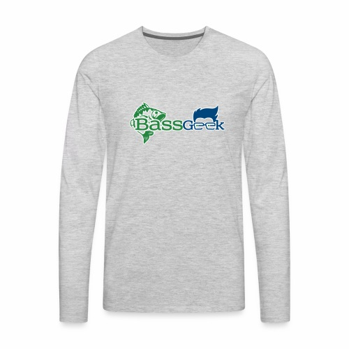 BassGeek Logo - Men's Premium Long Sleeve T-Shirt