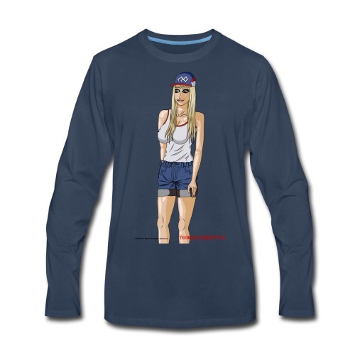 Gina Character Design - Men's Premium Long Sleeve T-Shirt
