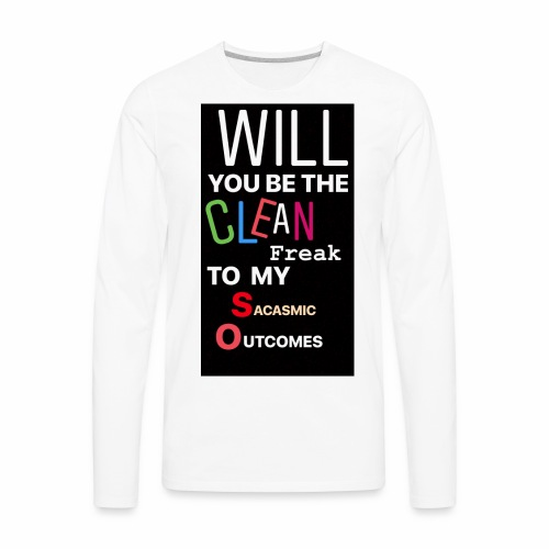 CHANDLER PROPOSES - Men's Premium Long Sleeve T-Shirt