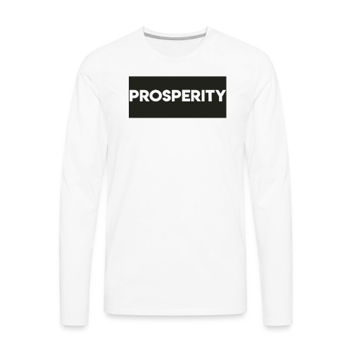 Prosperity shirt logo - Men's Premium Long Sleeve T-Shirt