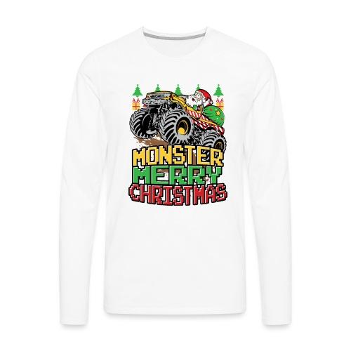 Santa Christmas Truck - Men's Premium Long Sleeve T-Shirt