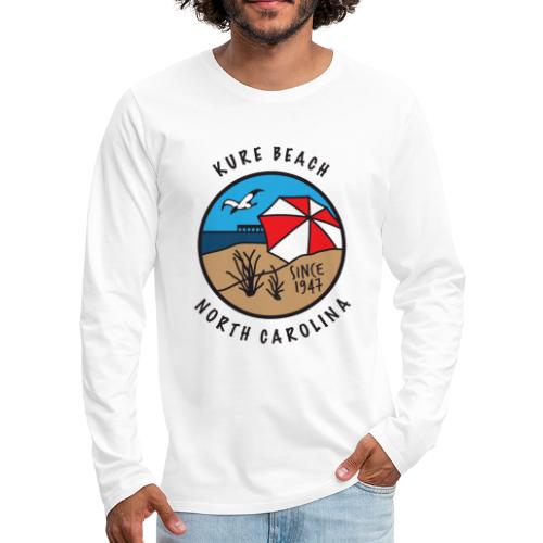 Kure Beach Day-Black Lettering-Front Only - Men's Premium Long Sleeve T-Shirt