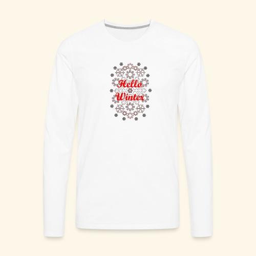 Hello Winter - Men's Premium Long Sleeve T-Shirt
