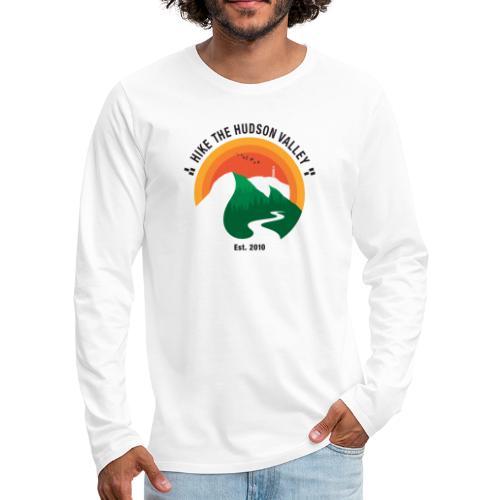 Hike The Hudson Valley (White/light bkgrnd) - Men's Premium Long Sleeve T-Shirt