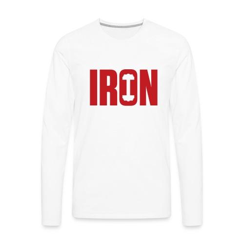 IRON WEIGHTS - Men's Premium Long Sleeve T-Shirt
