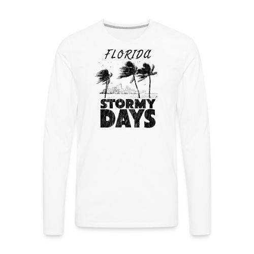 Florida Irma Hurricane Tornado Storm USA 2017 - Men's Premium Long Sleeve T-Shirt