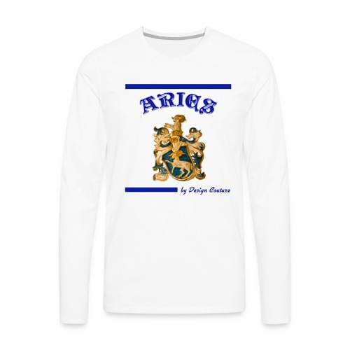ARIES BLUE - Men's Premium Long Sleeve T-Shirt