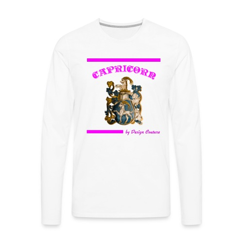 CAPRICORN PINK - Men's Premium Long Sleeve T-Shirt