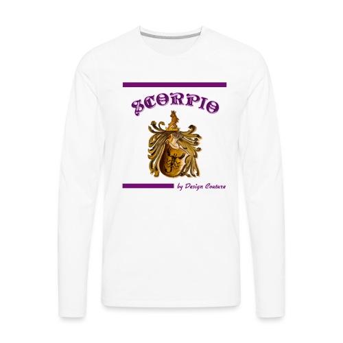 SCORPIO PURPLE - Men's Premium Long Sleeve T-Shirt