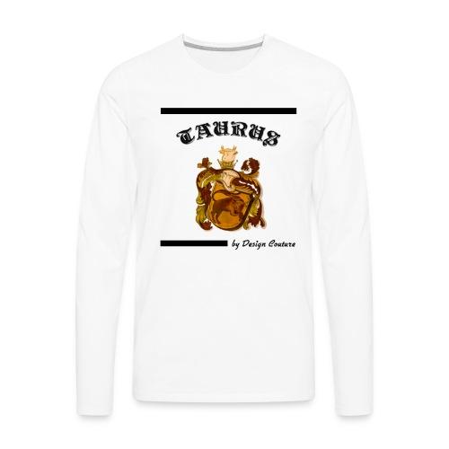 TAURUS BLACK - Men's Premium Long Sleeve T-Shirt