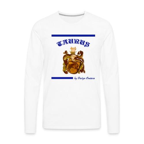 TAURUS BLUE - Men's Premium Long Sleeve T-Shirt
