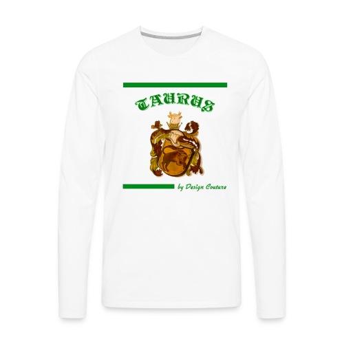 TAURUS GREEN - Men's Premium Long Sleeve T-Shirt
