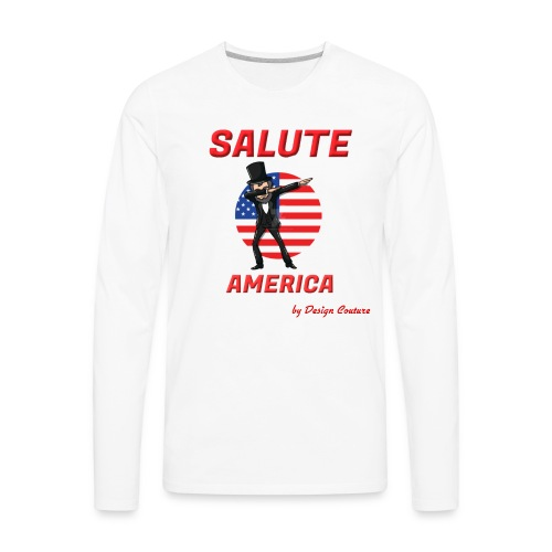 SALUTE AMERICA RED - Men's Premium Long Sleeve T-Shirt
