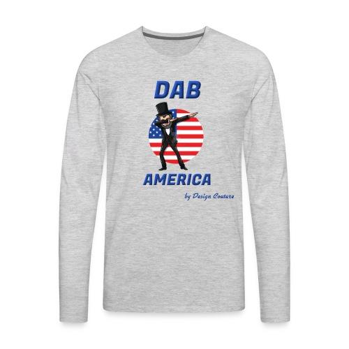 DAB AMERICA BLUE - Men's Premium Long Sleeve T-Shirt