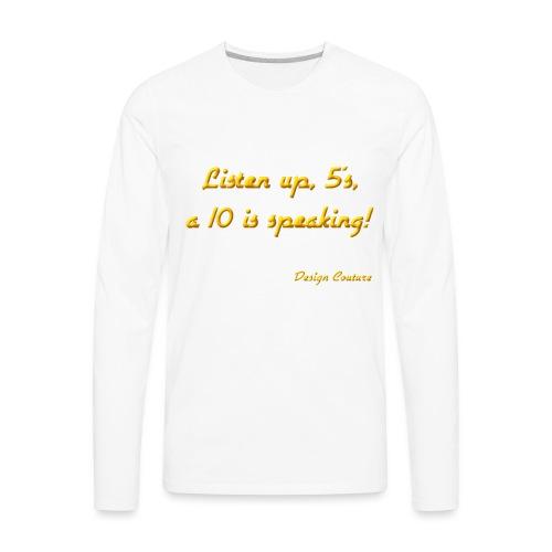 LISTEN UP 5 S ORANGE - Men's Premium Long Sleeve T-Shirt