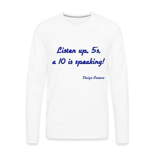 LISTEN UP 5 S BLUE - Men's Premium Long Sleeve T-Shirt