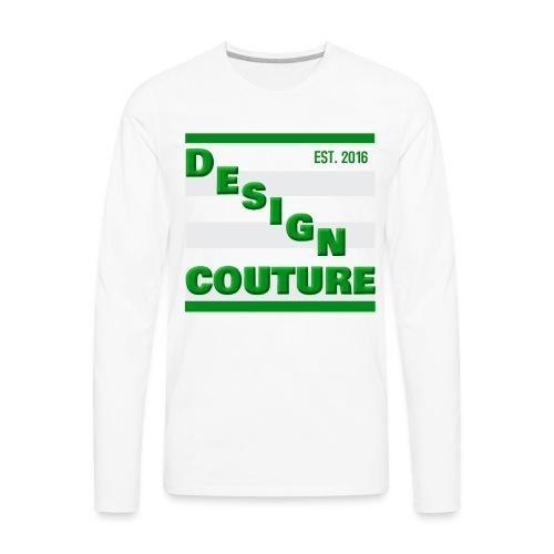 DESIGN COUTURE EST 2016 GREEN - Men's Premium Long Sleeve T-Shirt
