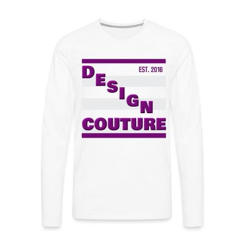 DESIGN COUTURE EST 2016 PURPLE - Men's Premium Long Sleeve T-Shirt