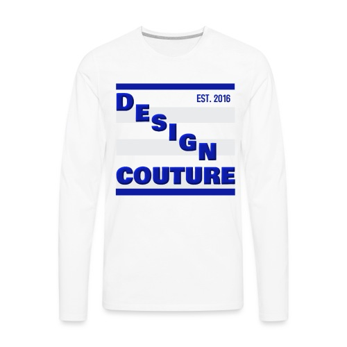 DESIGN COUTURE EST 2016 BLUE - Men's Premium Long Sleeve T-Shirt