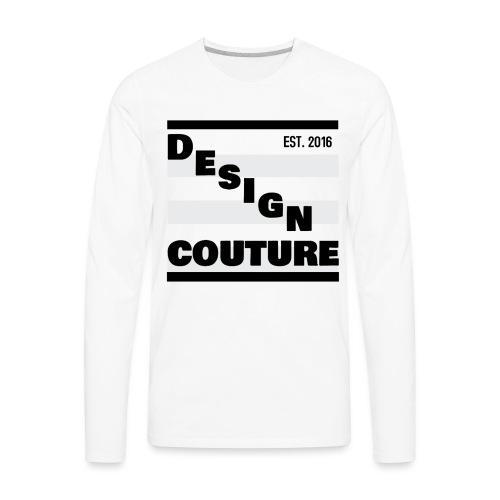 DESIGN COUTURE EST 2016 BLACK - Men's Premium Long Sleeve T-Shirt