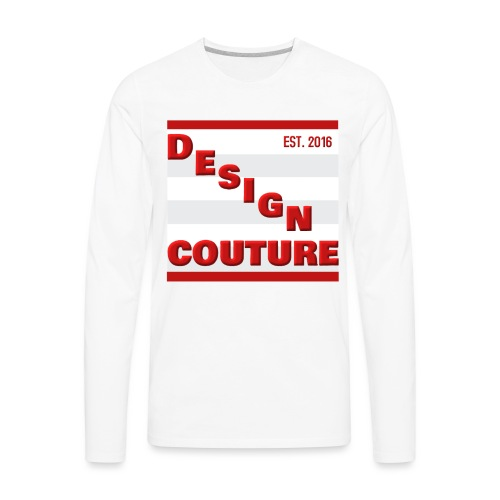 DESIGN COUTURE EST 2016 RED - Men's Premium Long Sleeve T-Shirt