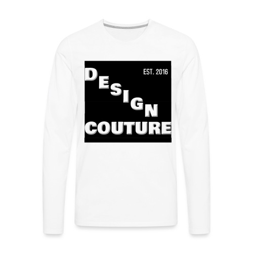 DESIGN COUTURE EST 2016 WHITE - Men's Premium Long Sleeve T-Shirt