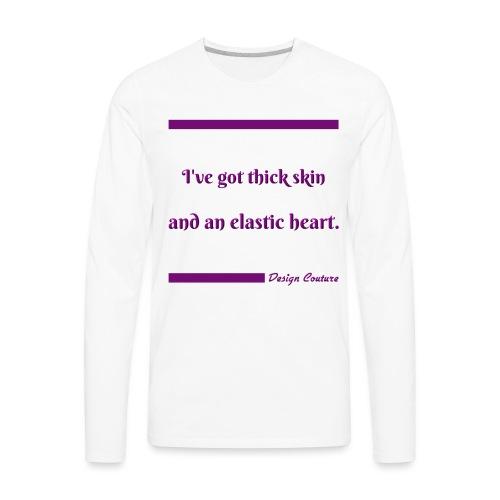 I VE GOT THICK SKIN PURPLE - Men's Premium Long Sleeve T-Shirt
