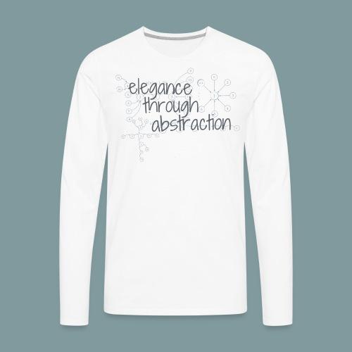 Elegance through Abstraction - Men's Premium Long Sleeve T-Shirt