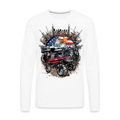 Mega Mud Trucks USA - Men's Premium Long Sleeve T-Shirt