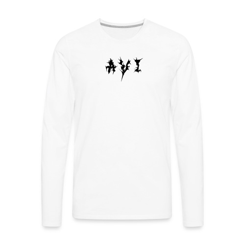 Avi Logo - Men's Premium Long Sleeve T-Shirt