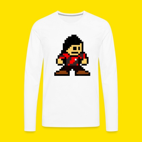 Kuna Mega Man Logo Unisex Tie-Die - Men's Premium Long Sleeve T-Shirt
